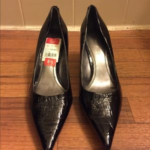 Nine West Crocodile Patent Leather Heels Pumps
